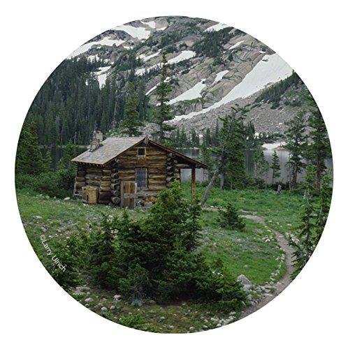 (Thirstystone Stoneware Coaster Set, Mountain Cabin )