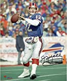 """Jim Kelly Buffalo Bills Autographed 8"""" x 10"""" Throwing Photograph - Fanatics Authentic Certified - Autographed NFL Photos"""