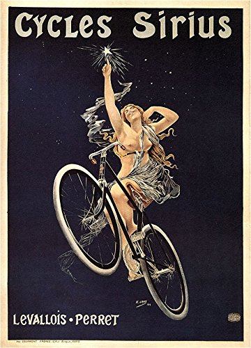 (Cycles Sirius, 1899 Vintage French Advertising Reproduction Rolled Canvas Print 24x32 in.)