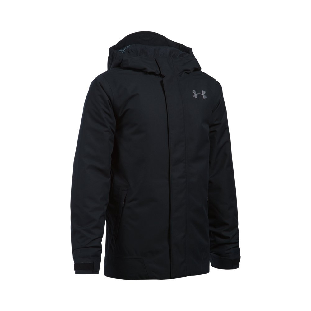 Under Armour Outerwear Boys ColdGear Powerline Insulation Jacket, Black, Youth Medium