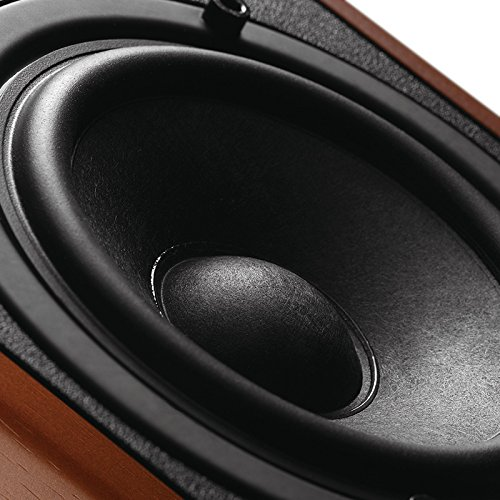 Swan Speakers - M50W - Powered 2.1 Bookshelf Speakers - HiFi Music Listening System - Wooden cabinet - Full Range Drivers - 6.5'' Subwoofer - Desktop Near-field Use - 100W RMS