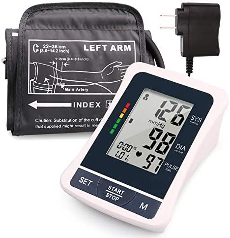 Lotfancy Blood Pressure Monitor Upper Arm, 2 Users, 120 Reading Memory, FDA Approved, Fully Automatic Blood Pressure Machine with Medium Cuff, Digital BP Meter with Large Screen & Adapter, Device Bag