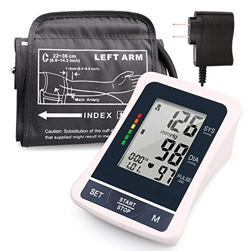 Blood Pressure Monitor Upper Arm, 2 Users, 120 Reading Memory, FDA Approved, Automatic Blood Pressure Machine with Medium Cuff, Digital BP Machine with Large Screen & Adapter, (Best Blood Sugar Monitor Device In India)