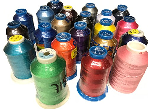Chefskin Huge Spool Embroidery Machine thread in different colors