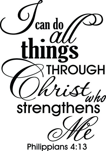 Amazon Com 16x23 I Can Do All Things Through Christ Who