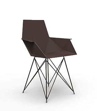 métal pieds avec petit bronze Vondom Faz en fauteuil verni 0nmN8w