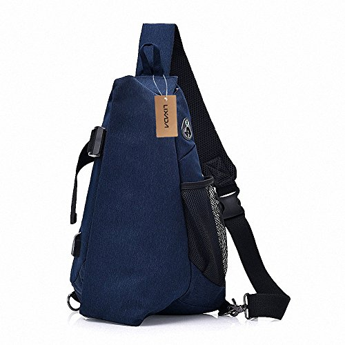 Hommes Casual Bleu Pack Sling Vol Sac Anti Lixada Bandoulière Sacs À Messenger Poitrine Bag dBCdqw