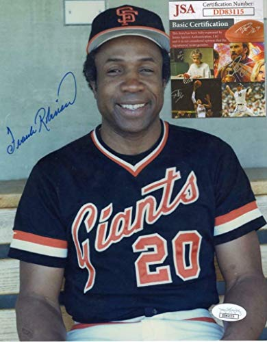 Frank Robinson Autographed Photograph - San Francisco Giants 8x10 Dd83115 - JSA Certified - Autographed MLB Photos