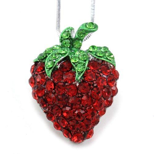 Strawberry Pendant Necklace Designer Fashion product image