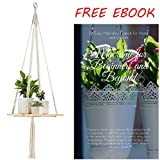 Shelf Hanging Planter Plant Hanger – Unique, Strong, and Durable Indoor Wall Planter – Ideal Wall Hanging Planters for Small Indoor and Outdoor Plants, Vases, Books
