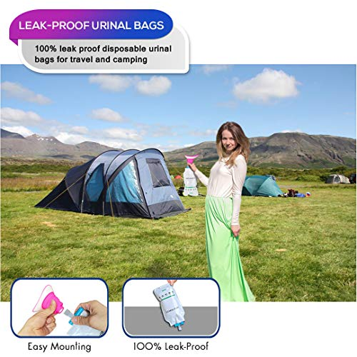 NAXER Female Urination Device Wee Urinal Pee Funnel for Women with Disposable Urinal Bags