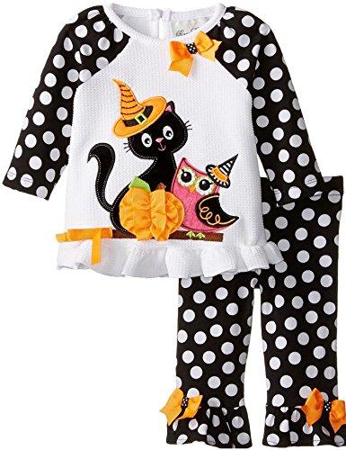 Rare Editions Baby Girls Cat Owl Pumpkin Dress