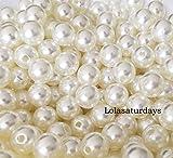 Lolasaturdays Pearls 1-Lbs Loose Beads vase Filler (10mm, Ivory)