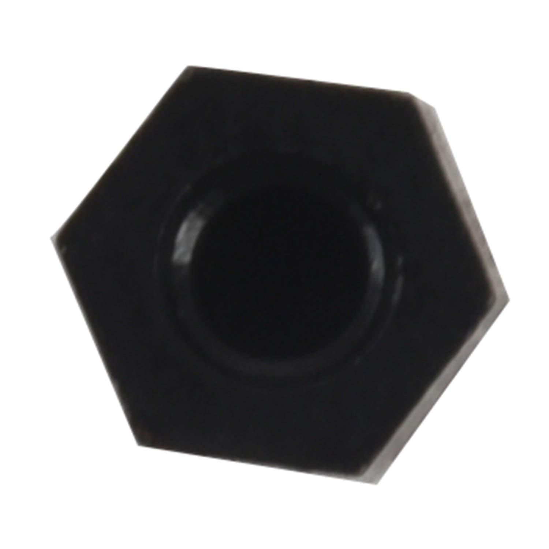 color negro 6 mm Placa base de nailon Hex Standoff con rosca M3 rosca 6 WOVELOT 100X