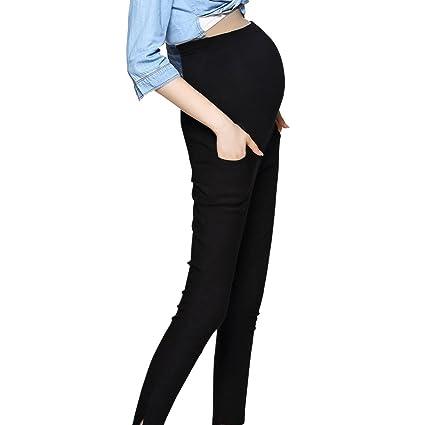 ca59535dcdca2 JOYNCLEON Maternity Work Casual Universal Trouser Over Bump Pregnancy  Comfortable Slim Pants for Women: Amazon.co.uk: Clothing