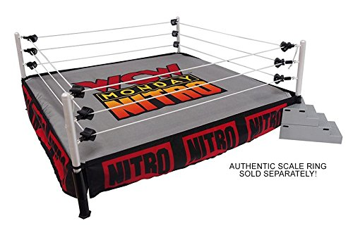 - WWE Package Deal WCW Monday Nitro Ring Skirt & MAT Ringside Exclusive Wicked Cool Toys Toy Wrestling Action Figure PLAYSET Accessories - Ring NOT Included