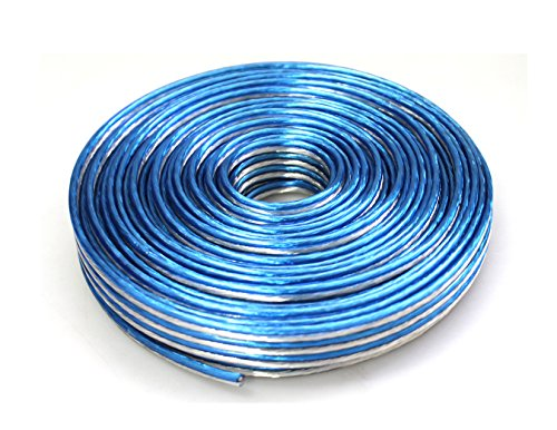 Absolute USA SWT16B100 Professional Premium Speaker Wire 16 Ga 100ft - Clear Blue/White by Absolute