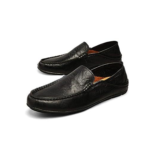 Estilo de Verano de la Manera Cómodo Mocasines de los Hombres Zapatos de Cuero Suaves Casuales Hombres Planos Masculinos Calzado de conducción de Uso ...