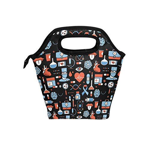 Kit Practitioner (Lunch Tote Bag with Nurse Practitioner Print- Insulated Reusable Lunch Box, BaLin Thermal Colder Lunchbox for School Work Office)