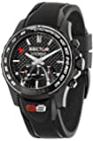 Sector Men's Quartz Watch with Black Dial Chronograph Display and Black Rubber Bracelet R3271677001