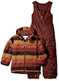 Columbia Boys' Toddler Girls' Frosty Slope Set, State Orange Zig N Zag, 4T
