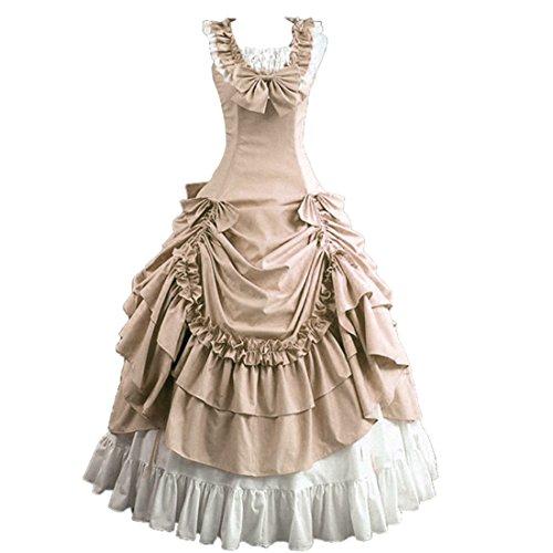Partiss Bowknot BallGown Gothic Lolita Evening Dress (X-Large, Champagne)