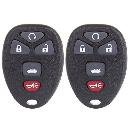 ECCPP Replacement Keyless Entry Remote Key Fob fit for Chevrolet Cobalt/Buick Allure Buick LaCrosse/Pontiac G5 G6 Pontiac Pursuit/Saturn Aura Sky KOBGT04A (2x)