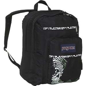 JanSport Big Student School Backpack (Black Stripe Attack)