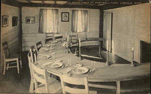 Moon Table at Hartwell Farm Lincoln, Massachusetts Original Vintage Postcard (Tables Farm Massachusetts)