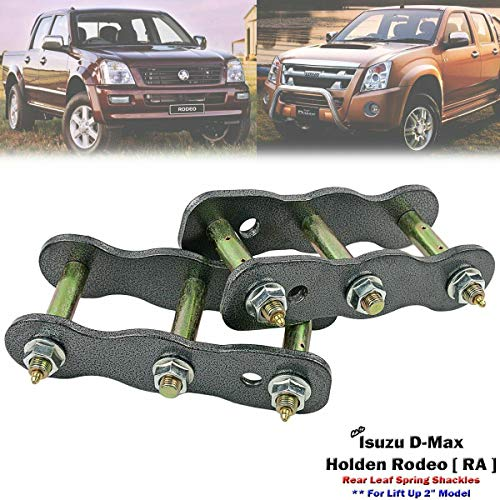 2 Inch Rear Greasable Extended Lift Shackles Kit Isuzu D-max Holden Rodeo 2007-11