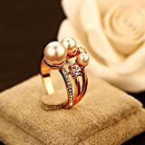 Shell Korean Design Custom Models Ring Pearl Flowers Woman Gift Option Over United States Awesome Cents (17 laps