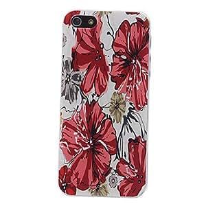 Patr¨®n estuche r¨ªgido estampado de flores elegante para el iphone 5/5s
