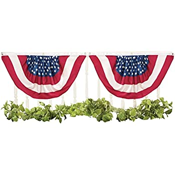 this item american stars and stripes patriotic bunting flag 2 piece set