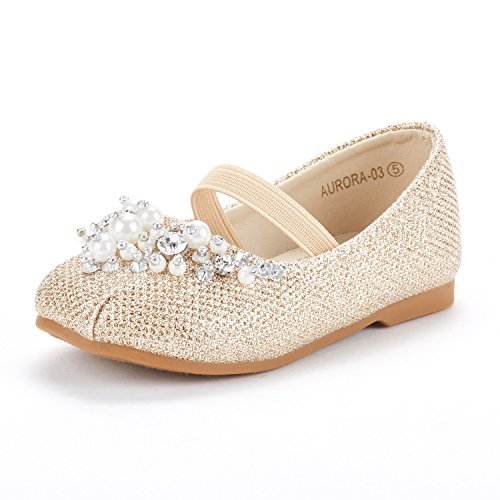 DREAM PAIRS Girl's Toddler/Little Kid/Big Kid Aurora-03 Mary Jane Ballerina Flat Shoes