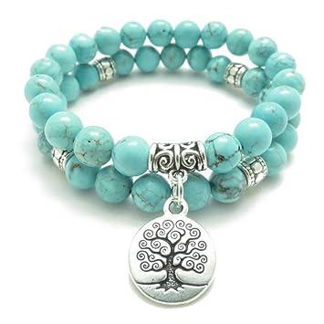 Amazon.com: Tree Of Life Jewelry Yoga Mala Bracelet Stone ...
