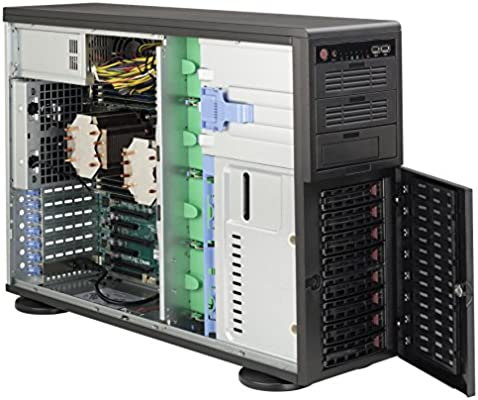 Supermicro SuperChassis 743TQ-865B-SQ Torre Negro 865 W - Caja de Ordenador (Torre, Servidor, Metal, ATX,EATX, Negro, 4U): Amazon.es: Informática