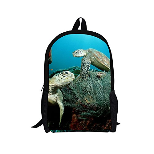 Bigcardesigns DIY Sea Turtle Backpack for Girls School Book Bag - Back Diy Pack