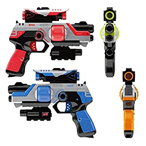 Blazeray Lazer Tag Gun Set - Two to Four Player Lazer Tag for Kids - Best Indoor and Outdoor Games