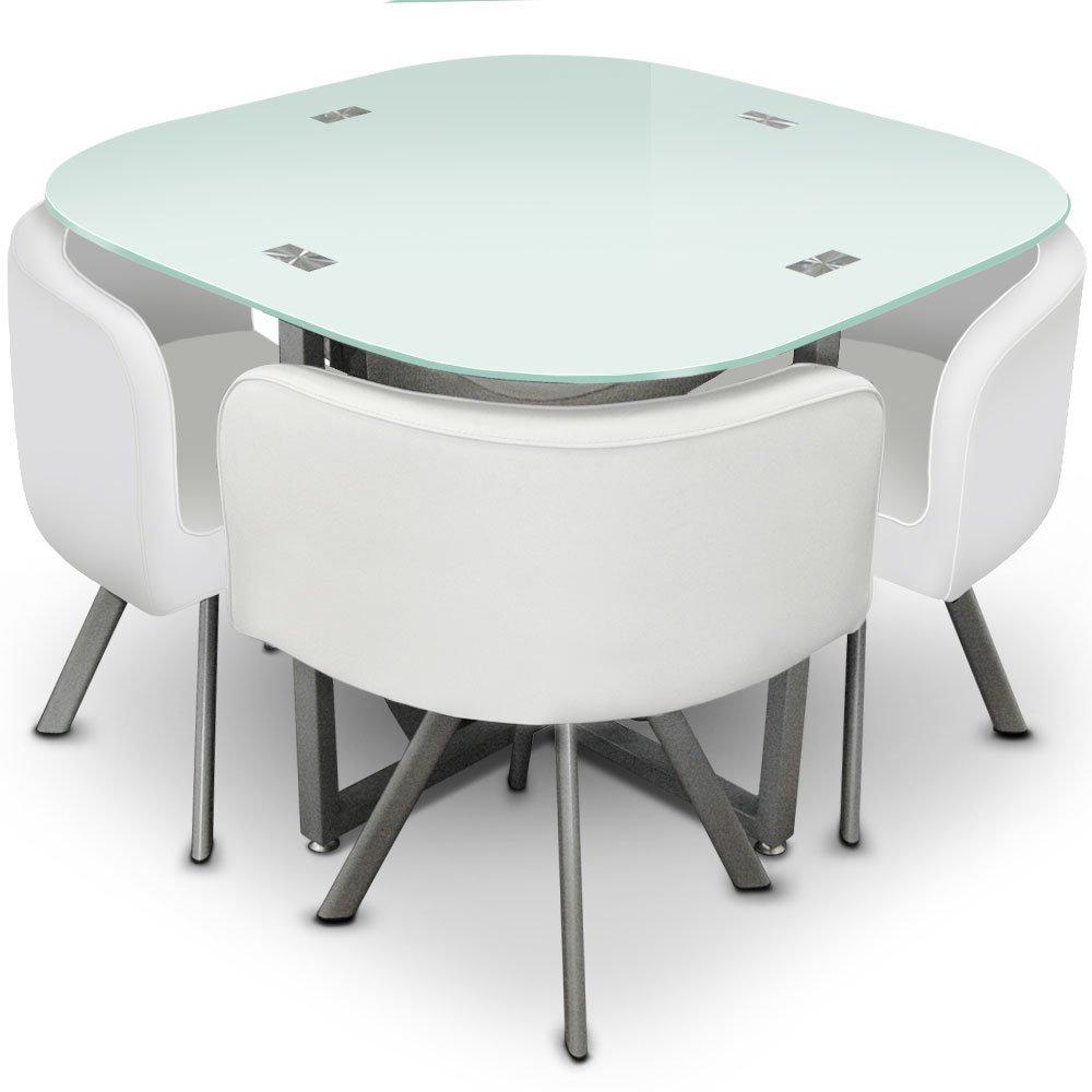 Stunning menzzo p mosaic table et chaises mtalverre blanc - Table de pratique osteopathique ...