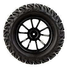 RC Car Tire Wheel Rim - SODIAL(R) 4Pcs 1/10 Monster Truck Wheel Rim and Tire 8010 fr Traxxas HSP Tamiya HPI RC Car