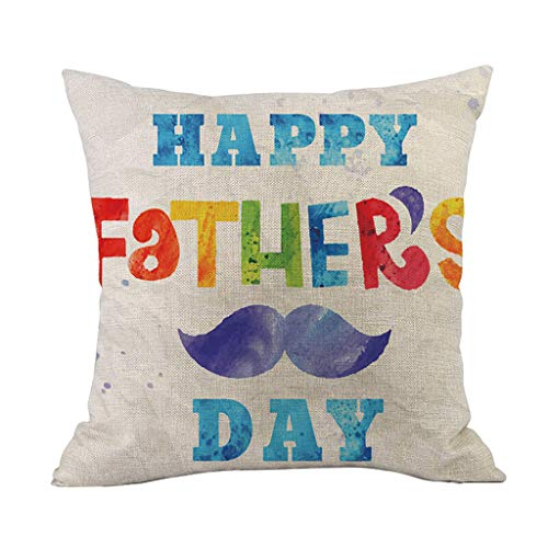 Lemoning , Happy Father's Day Sofa Bed Home Decoration Festival Pillow Case Cushion Cover -