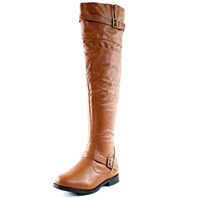 Amazon.com | West Blvd Womens Tokyo Over The Knee Thigh High Boots ...