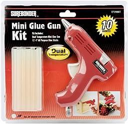 Dual-Temp Mini Glue Gun Kit-Red 1 pcs sku# 655684MA