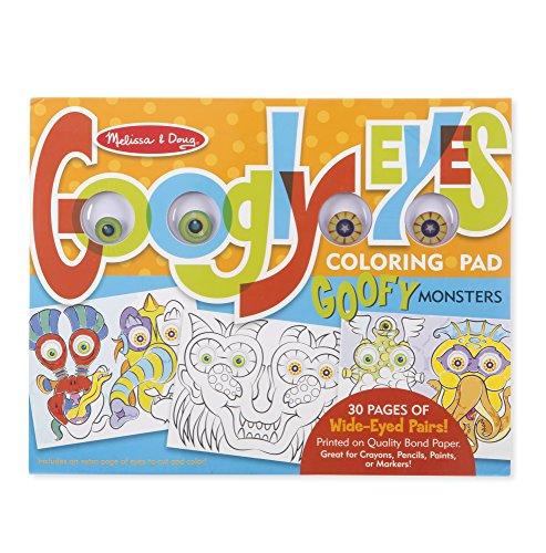 Melissa & Doug Googly Eyes 30-Page Coloring Art Pad - Goofy