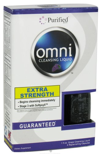 Strength Grape Flavor - Purified Brand - Omni Cleansing Liquid Extra Strength Grape Flavor 1 fl oz.