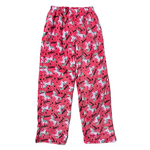 Popular Girl's Fuzzy Fleece Pajama Pants - Unicorns - 14/16 ()