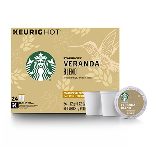 Starbucks Veranda Blend Blonde Light Roast Single Cup Coffee for Keurig Brewers, 4 Boxes of 24 (96 Total K-Cup pods)