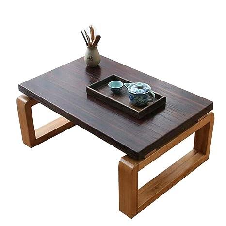 Amazon.com: Mesa plegable de madera maciza pequeña mesa de ...