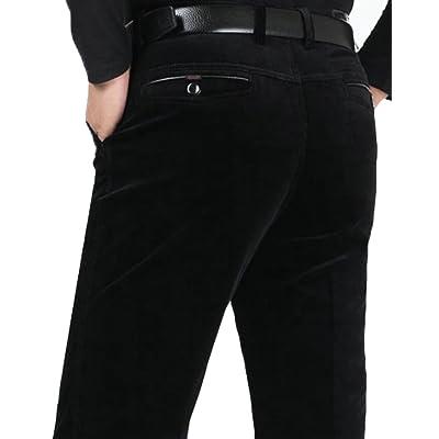 Alion Men Winter Slim Fit Straight Casual Pants Suit