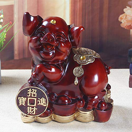 - Viet SC Figurines & Miniatures - -2019 Home Office Company Shop Thriving Business Money Drawing Gook Luck Zodiac Fortune Pig Mascot Feng Shui Art Statue - by GTIN - 1 Pcs